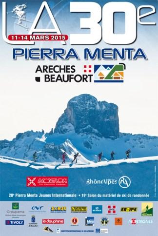 Cartel Pierra Menta 2015, la prueba reina del skimo mundial.