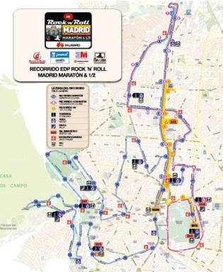 Maraton Madrid 2015 recorrido