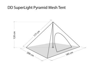 DD Hammocks SuperLight Pyramid Mesh Tent 7