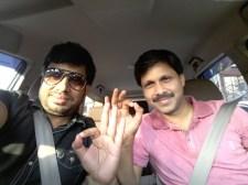 Raj Mahajan and Dr Hari Om (IAS)