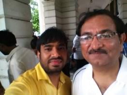 Raj Mahajan and Traffic Commissioner Dr. Muktesh Chander (IPS)