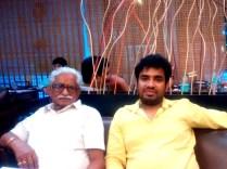 Raj Mahajan with his father