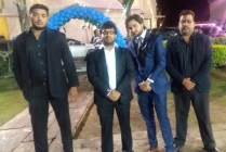 Raj Mahajan with Security Officers