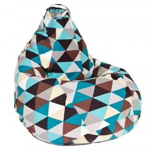 Купить Кресло-мешок XL жаккард bk