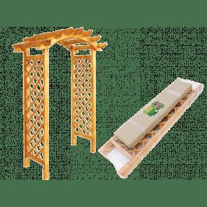 Купить Арка садовая деревянная bk