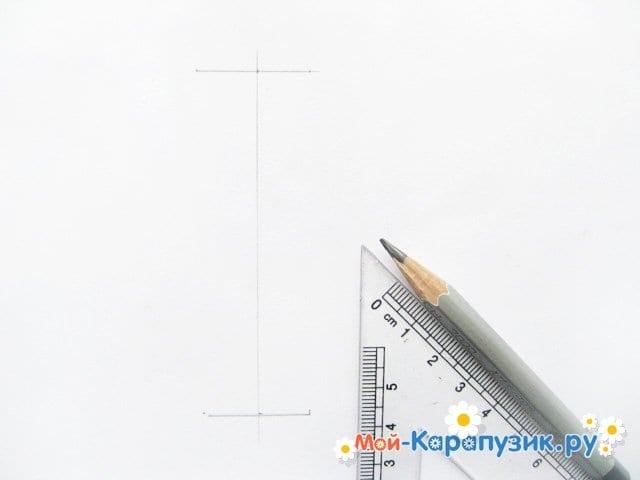 Krok za krokem kreslení váza s barevnými tužkami - Foto 2