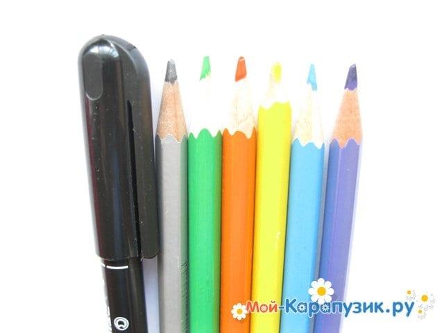 """Поэтапное рисование Маши из м/ф """"Маша и Медведь"""" цветными карандашами - фото 1"""