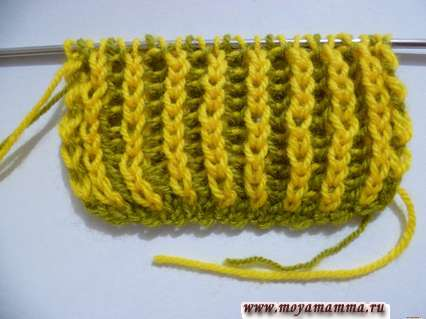 Aghi per maglieria a maglia a doppia faccia a due colori per sciarpa