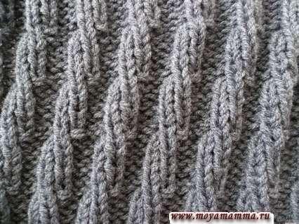 Motivi per la maglieria sciarpe con maglieria a maglia a maglia modello di anelli viso e invalosi