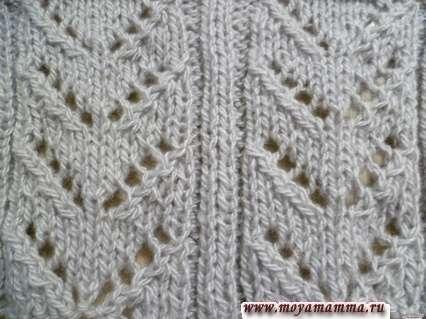 Motivi per sciarpe a maglia con ferri da maglia per sciarpa