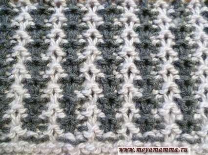 Motivi per sciarpe a maglia con maglieria a maglia da maglieria modello a doppia faccia dal lato sbagliato