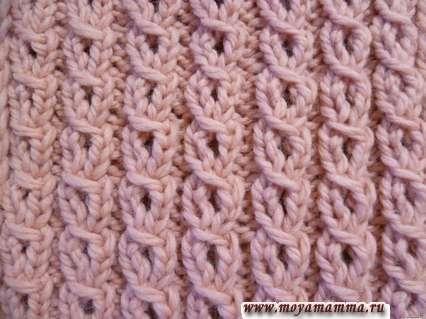 Motivi per la maglieria Sciarpe con ferri da maglia con aghi con sciarpa Interstazioni