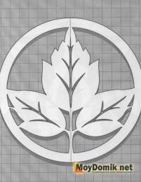 Эскиз наличников на окна - листочек