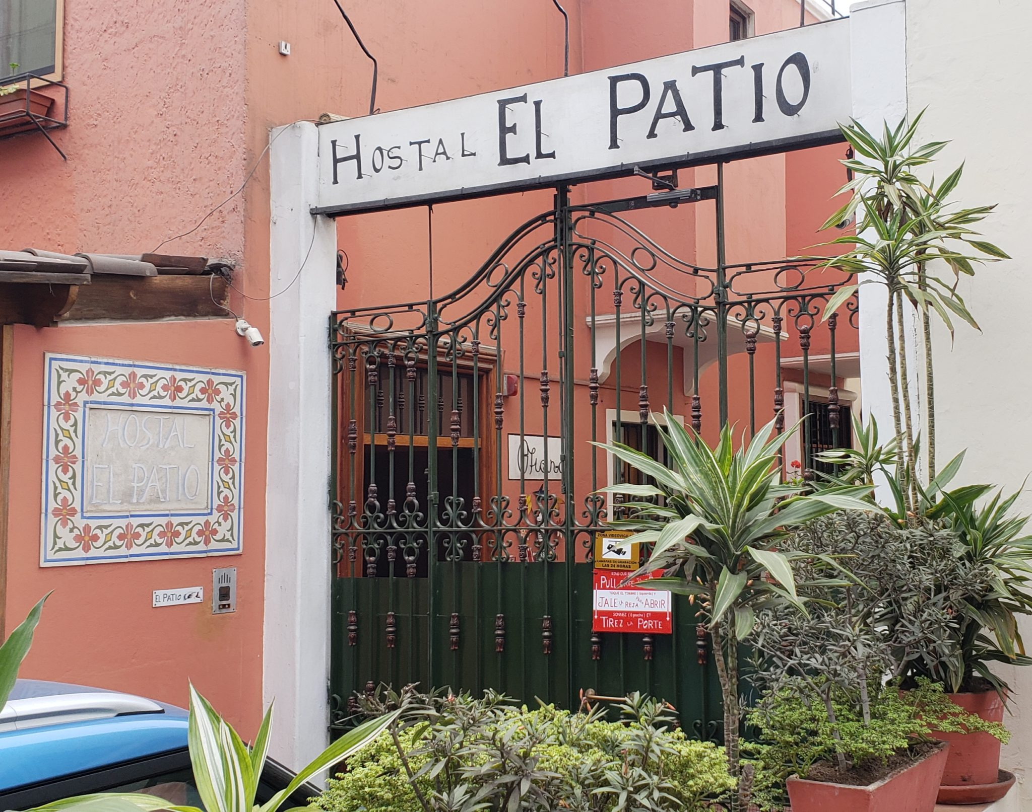 entrance of el patio hostal
