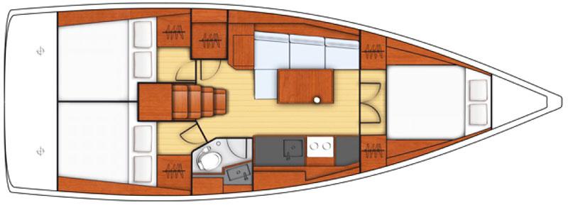 Парусные яхты в Лимассоле oceanis 38.1 Кипр чартер