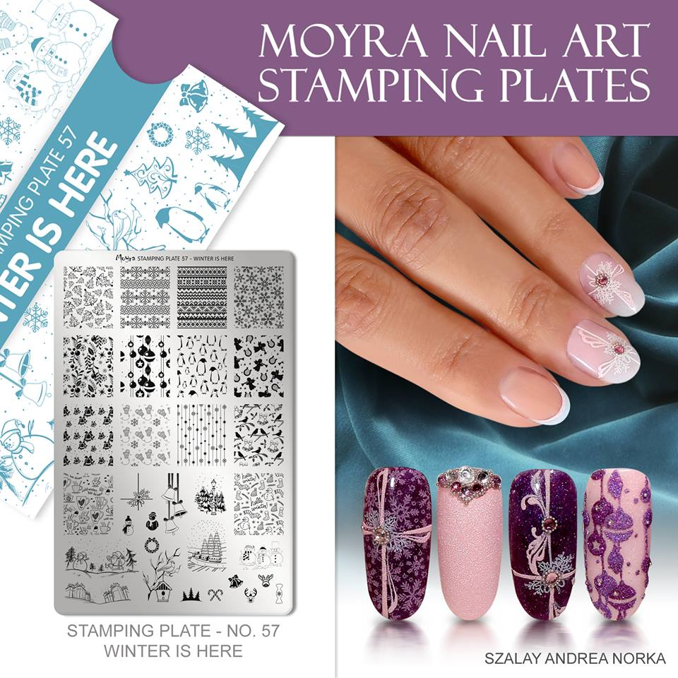 Moyra Nail Art Sting Plate No 57 Winter Is Here