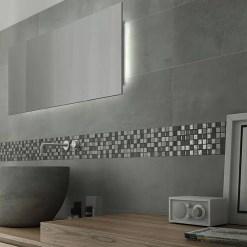 Mozaiek Zilver Grijs Kristal