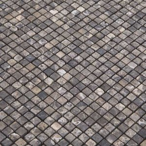 Mozaiek Natura Fossiel Grijs Mini