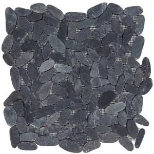 Mozaiek Ovaal Zwart