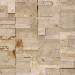 Mozaiek Hoge Rotssteen Creme