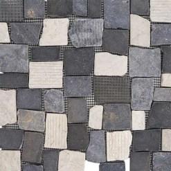 Mozaiek Kader Steen Zwart Wit