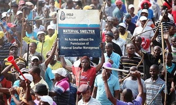 SA Anglo Platinum Miners Strike