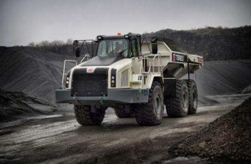 Iron ore mining truck