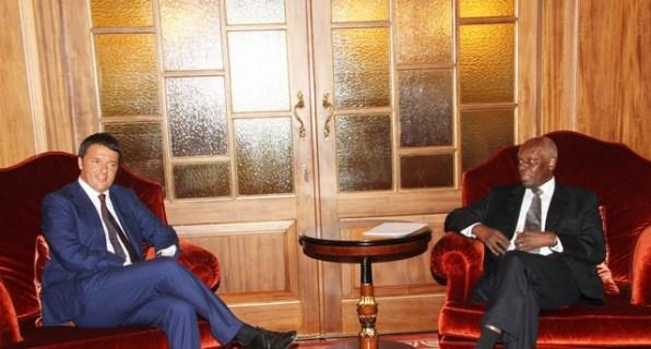 Italy PM Matteo Renzi and Angola President Eduardo dos Santos