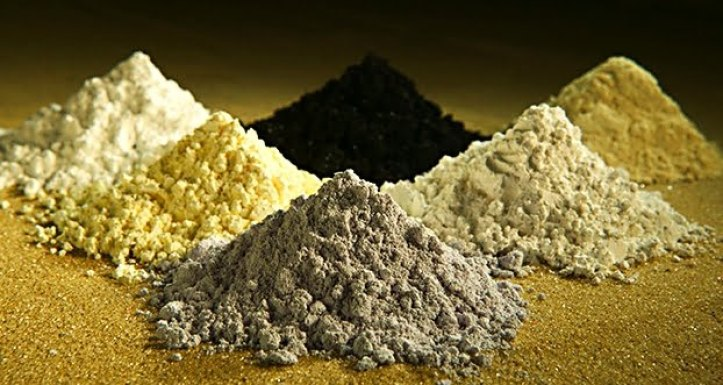 Sample of rare earth oxides