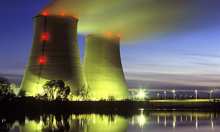 The nuclear power plant in Belleville sur Loire, France