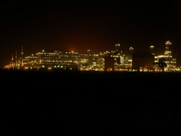 Picture of the day:   Nigeria LNG facilities at nigh