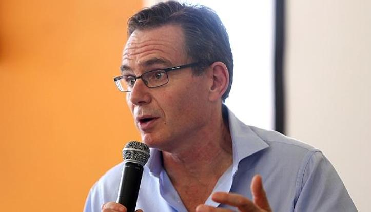 """We are deeply sorry."" BHP Billiton CEO Andrew Mackenzie at a press conference in Brazil. Source: AFP"