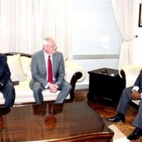 Mozambique Oil & Gas: ExxonMobil's CEO Darren Woods meets President Nyusi in Beira, Mozambique