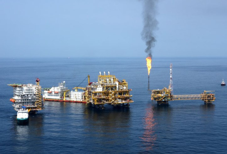 An oil and gas complex off the coast of Nigeria