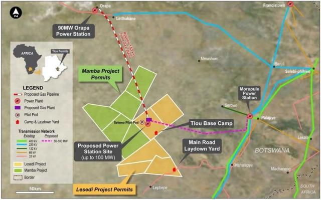 LESEDI AND MAMBA CBM PROJECT PERMITS AND SURROUNDING POWER INFRASTRUCTURE