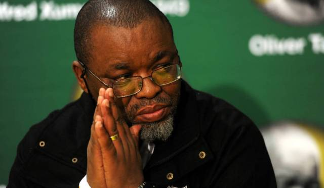 SA Mineral Resources Minister Gwede Mantashe