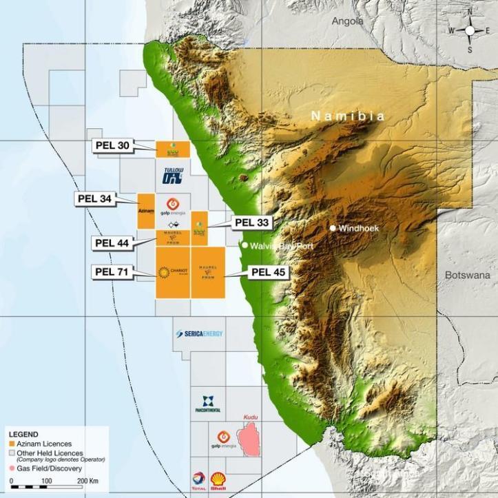 Azinam licences offshore Namibia