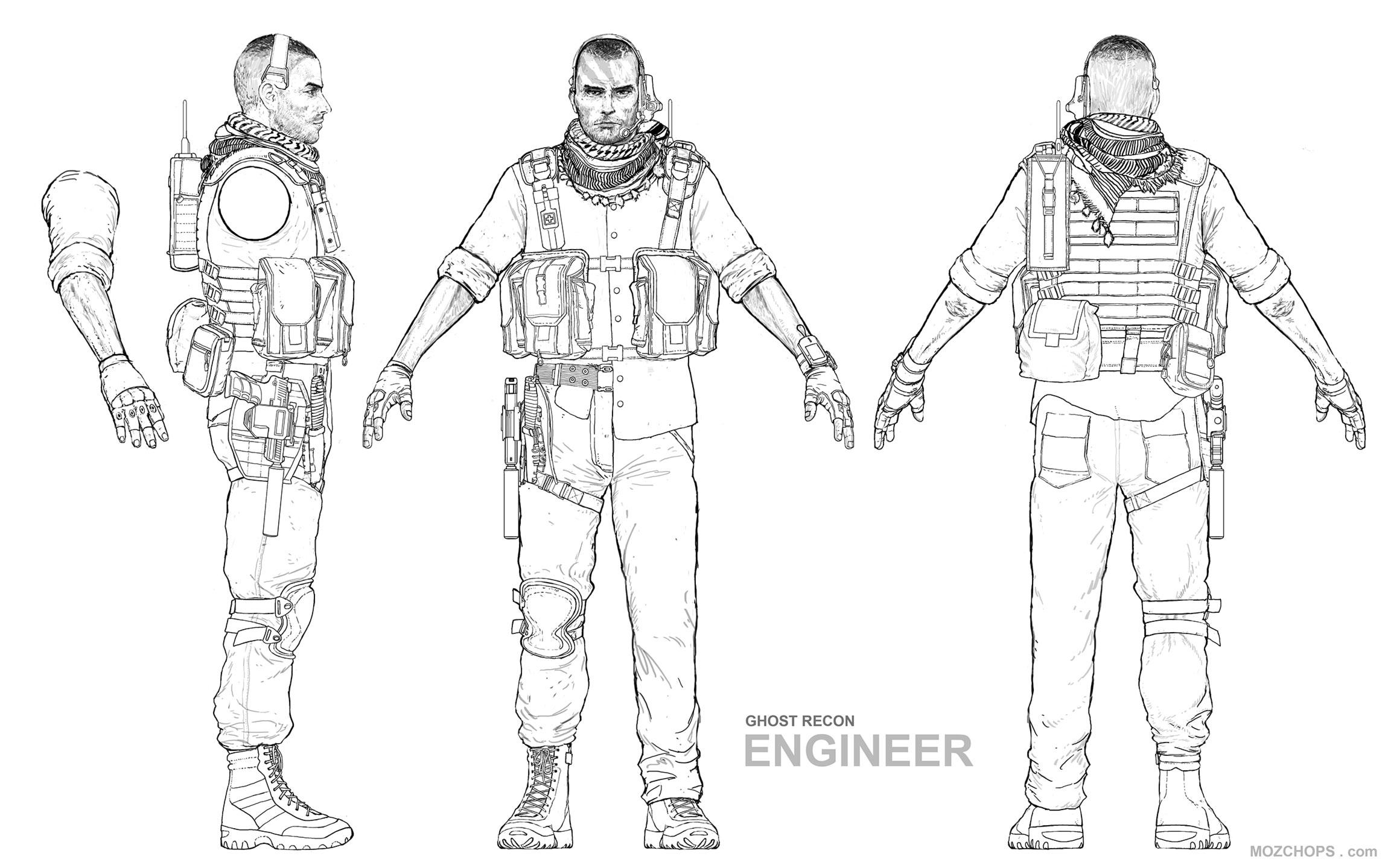 Ghost Recon Wildlands Engineer Character Sheet