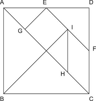 Rozměry tanů - dílků Tangramu
