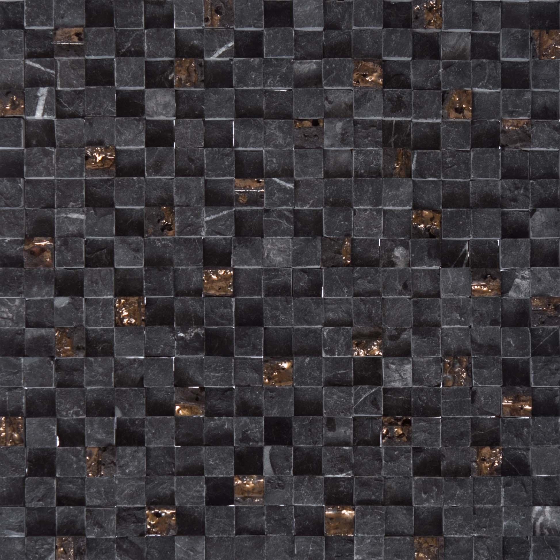 altura nero mozzaico leading tile