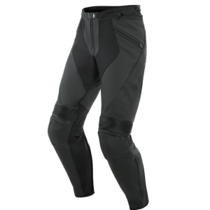 Dainese  PONY 3 LEATHER PANTS BLACK. Perforreret