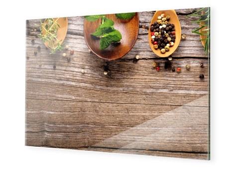 Grazdesign Kuchen Spritzschutz Glas Bild Motiv Granit Grau Marmor