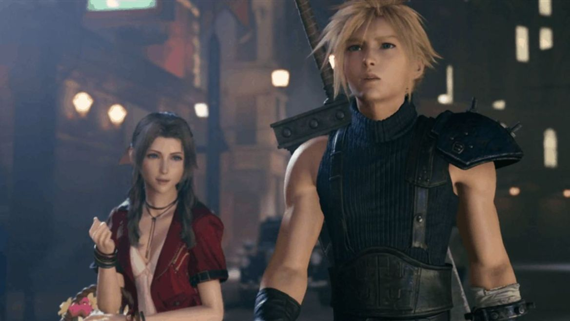 final fantasy 7 remake cloud and aerith