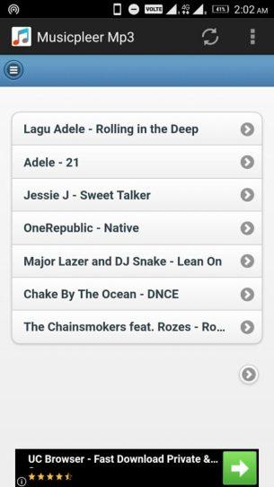 Features of MusicPleer