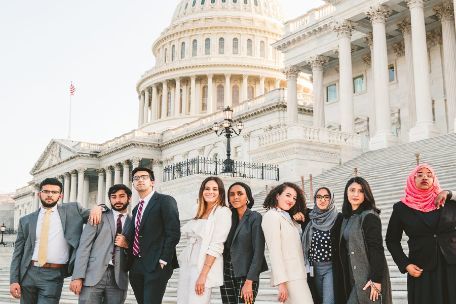 Congressional Leadership Development Program fellows in front of Capitol Hill in DC