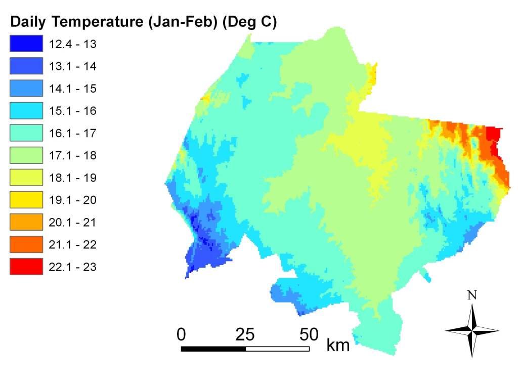 Daily Temp Jan-Feb 1960-2002