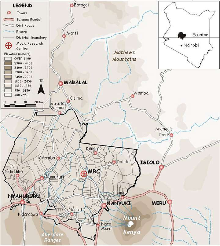 Ewaso Nyiro ecosystem map
