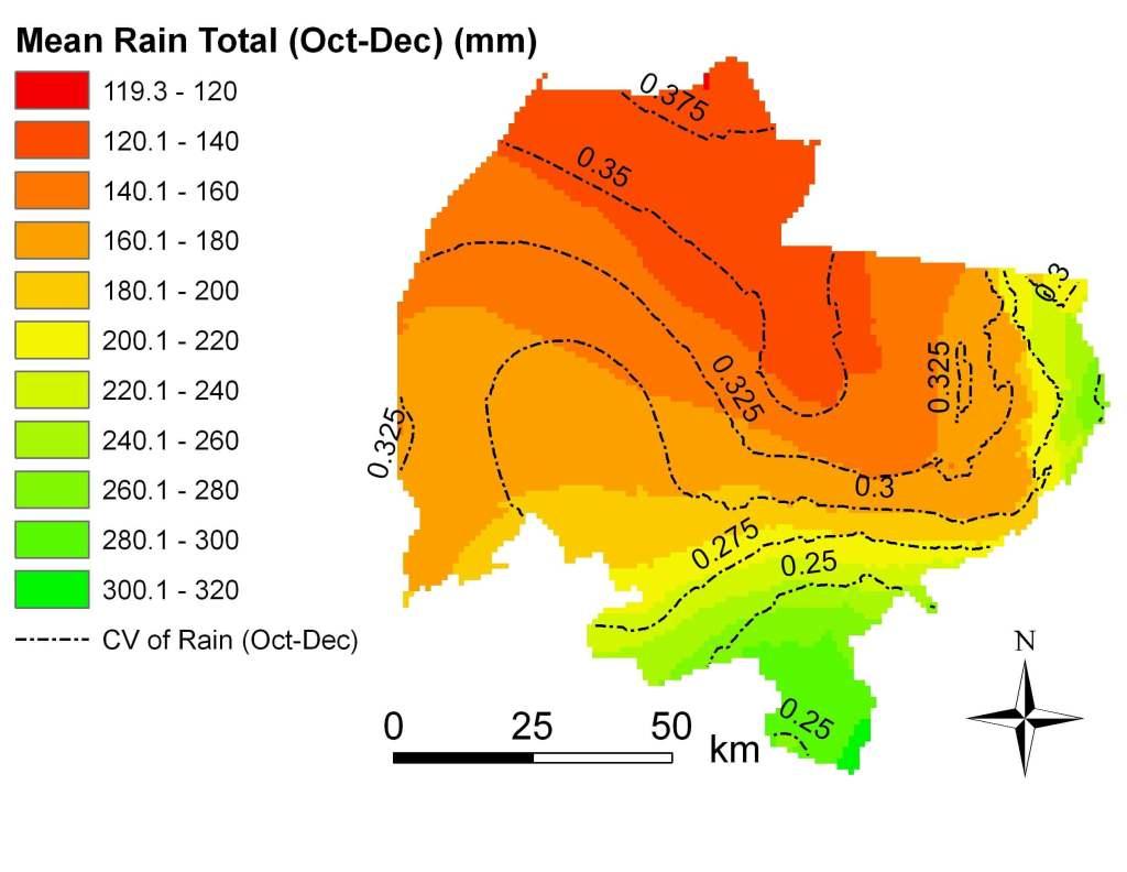 Rain total Oct-Dec 1960-2002