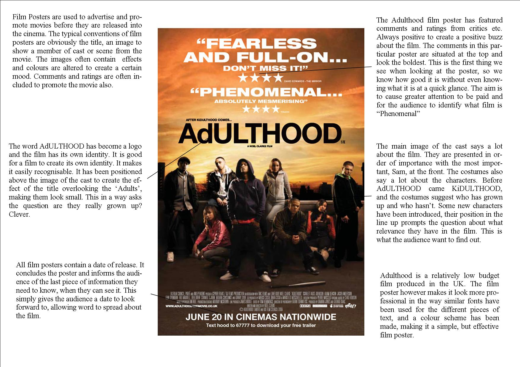 Adulthood Film Posterysis