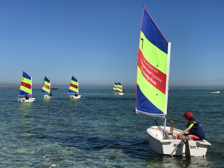 Activities - Kids taking sailing lessons at the Rye Yacht Club